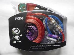 PK 208 - Set of cables for 2 CHANNEL amplifier installation